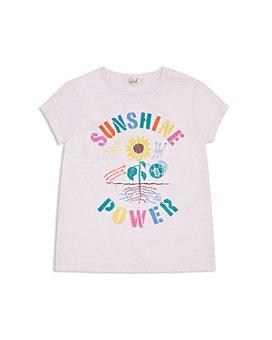 Peek Kids - Girls' Sunshine Power Cotton Graphic Tee - Little Kid, Big Kid