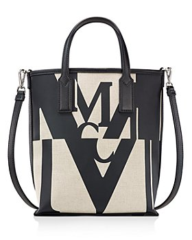 MCM - Logo Glitch Mini Canvas Shopper