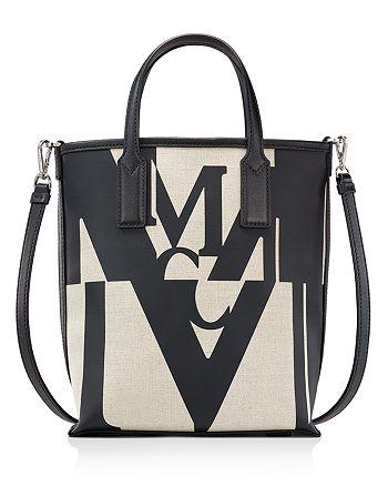 MCM - Logo Glitch Mini Canvas Shopper