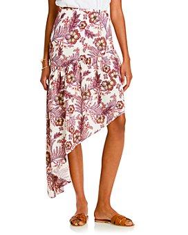 LINI - Meagan Printed Asymmetric Midi Skirt - 100% Exclusive