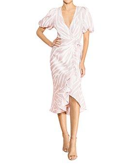 Parker - Alec Printed Ruffled Wrap Dress