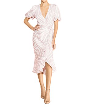Parker - Alec Printed Ruffled Wrap Dress