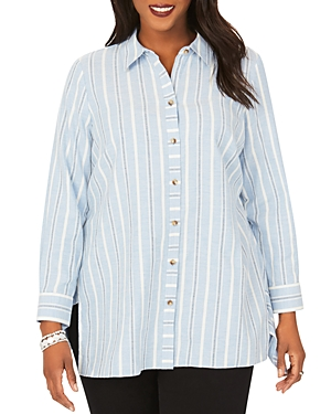 Edison Striped Brushed Cotton Tunic