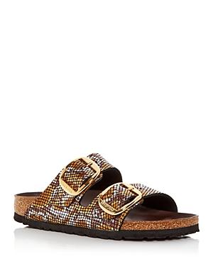 Birkenstock Women\\\'s Arizona Big Buckle Python Embossed Slide Sandals