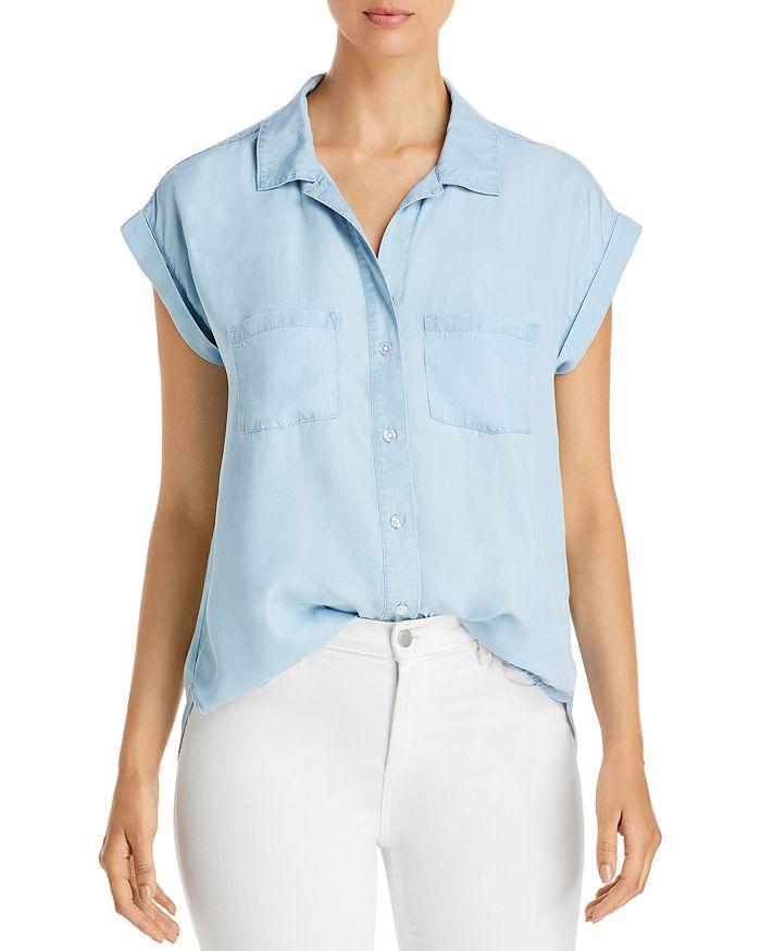 Alison Andrews Short Sleeve Shirt In Light Chambray