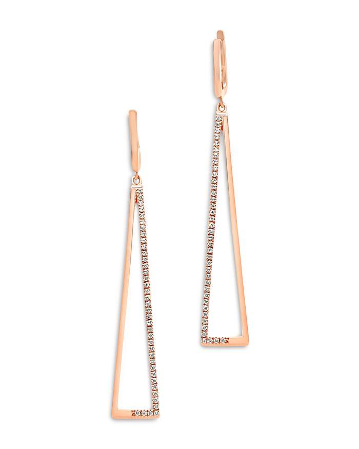 Bloomingdale's Diamond Geometric Drop Earrings in 14K Rose Gold - 100% Exclusive  | Bloomingdale's