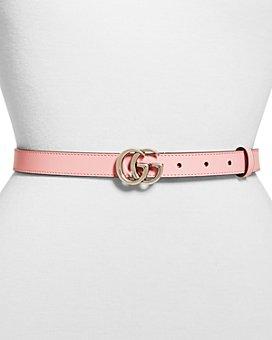 Gucci - Women's Double G Slim Leather Belt