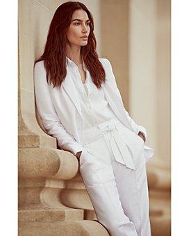 Ralph Lauren - Lauren Ralph Lauren x WONDER WOMAN Slim Fit Blazer, Linen Shirt & Cropped Straight Leg Pants