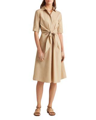 Ralph Lauren Tie Front Shirt Dress   Bloomingdale's