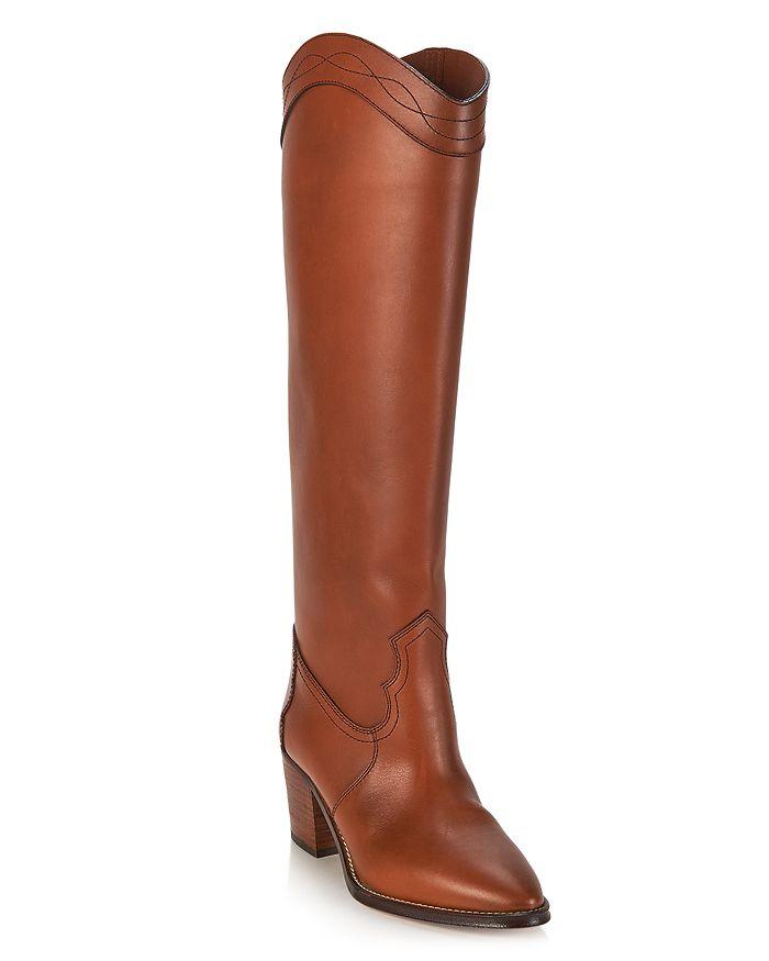 Saint Laurent - Women's Kate Western Block Heel Boots