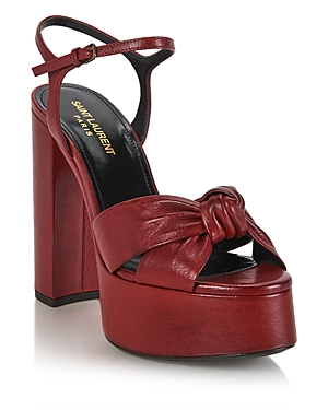 Saint Laurent WOMEN'S BIANCA 85 NODE SANDALS