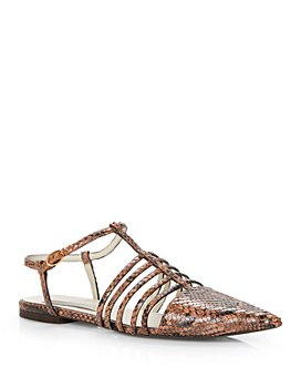 Stella McCartney - Women's Tunit Snake-Embossed Pointed Toe Sandals