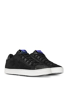 P448 - Women's John Black Glitter Platform Sneakers