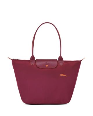 Le Pliage Club Large Shoulder Tote In Garnet Red/silver