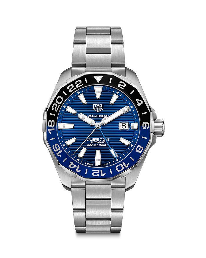 TAG Heuer - Aquaracer Calibre 7 GMT Automatic Men's Blue Steel Watch, 43mm