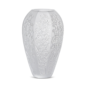 Lalique Clothing SAKURA CLEAR VASE, LARGE