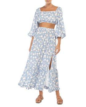 Peony - Crop Top & Midi Skirt