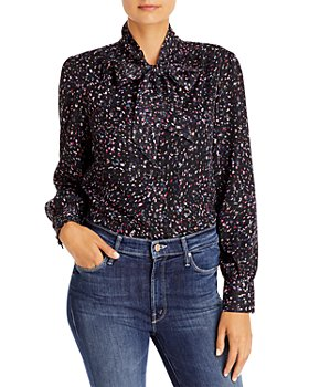 AQUA - Floral Print Blouse - 100% Exclusive