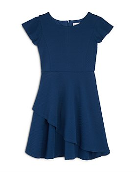 US Angels - Girls' Textured Knit Skater Dress - Big Kid