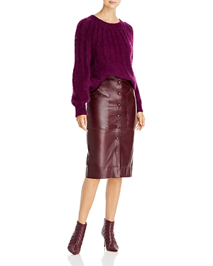 Alberta Ferretti Pleated Mohair Sweater-Women