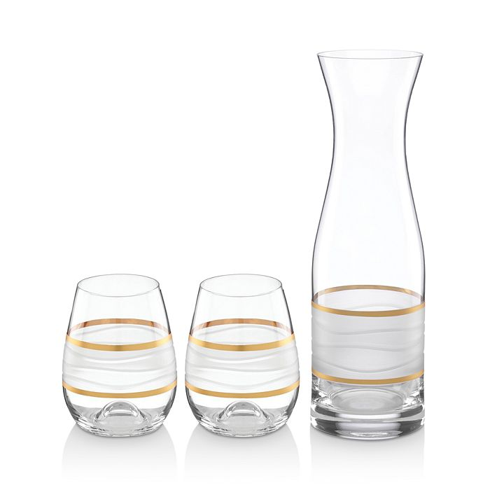 Michael Wainwright - Ile De Re Carafe with 2 Stemless Wine Glasses