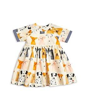Pink Chicken - Girls' Olive Dog Print Cotton Dress - Little Kid
