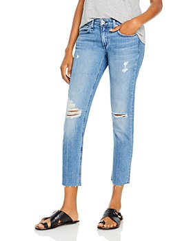 rag & bone - Dre Low Rise Distressed Slim Boyfriend Jeans in Aviation Way