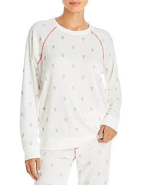 Pj Salvage Skull Print Thermal Pajama Top - 100% Exclusive-Women