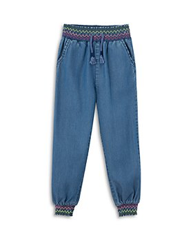 Peek Kids - Girls' Esmeredla Chambray Jogger Pants - Little Kid, Big Kid