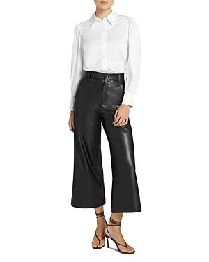 A.l.c. Wiles Wide Leg Faux Leather Gaucho Pants-Women