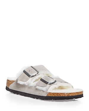 Birkenstock WOMEN'S ARIZONA SHEARLING SLIDE SANDALS