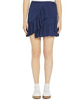 Goldie - Ruffled Wrap Mini Skirt