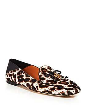 Tory Burch - Women's Leopard Print Calf Hair Apron Toe Loafers