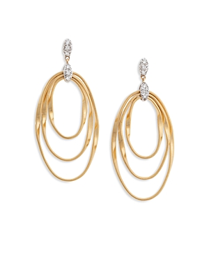 Marco Bicego 18K Yellow Gold Onde Triple Loop Post Ear-Jewelry & Accessories