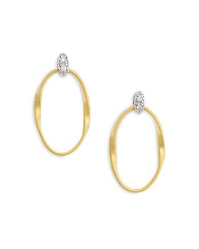 Marco Bicego - 18K Yellow Gold Onde Diamond Drop Earrings