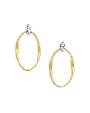 Marco Bicego 18K Yellow Gold Onde Diamond Stud Ear-Jewelry & Accessories