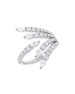 Bloomingdale's Diamond Statement Ring in 14K White Gold, 1.5 ct. t.w. - 100% Exclusive