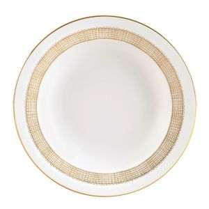 Vera Wang Wedgwood Gilded Weave Rim Soup Plate