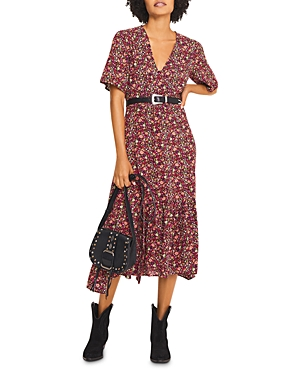 ba & sh Silvine Floral Print Dress-Women