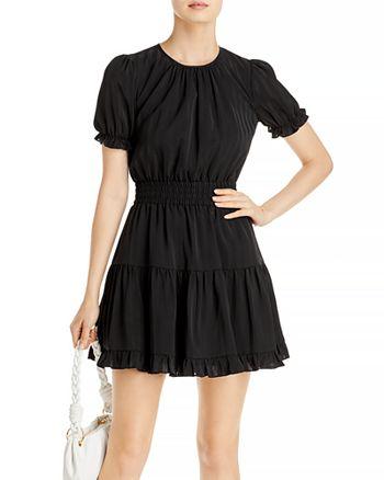 AQUA - Smocked Ruffle Trim Dress - 100% Exclusive