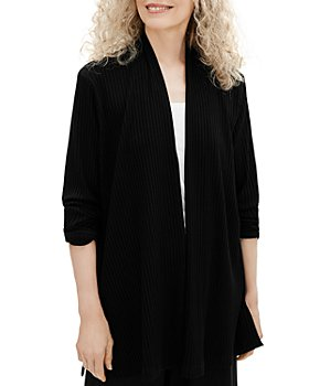 Eileen Fisher - Ribbed Open Front Jacket