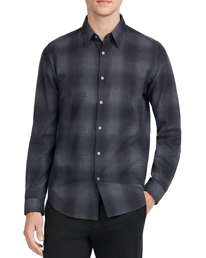 Theory - Slim Fit Plaid Shirt