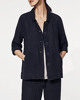Eileen Fisher - Tonal Check Classic Linen Jacket