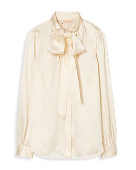 Tory Burch - Silk Bow Blouse