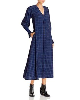 Résumé - Ane Checked Print Maxi Dress