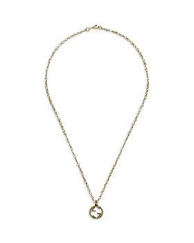 "Gucci - 18K Yellow Gold Interlocking G Pendant Necklace, 19.7"""