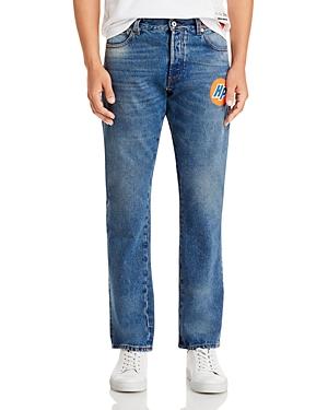 Heron Preston Slim Jeans in Vintage Blue-Men