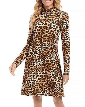 Karen Kane - Quinn Turtleneck Leopard Print Dress