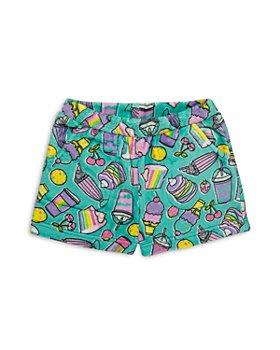 Candy Pink - Girls' Food Print Fleece Pajama Shorts - Big Kid