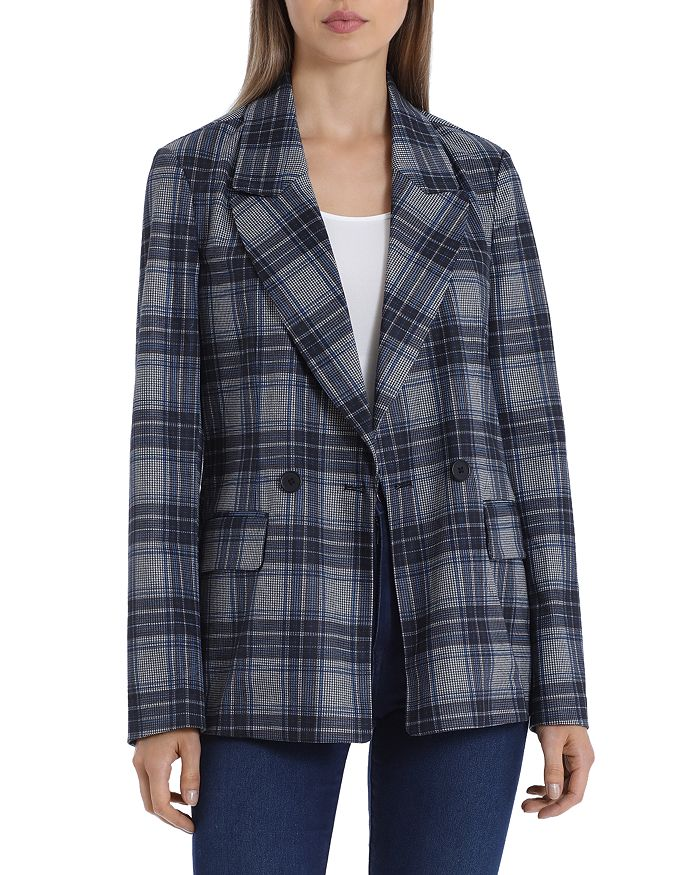 Bagatelle - Plaid Double Breasted Blazer